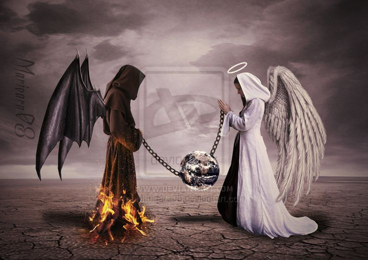 This image represents the evil looking angel as macbeth and the good looking angel as macduff - Free evil angel pictures ...