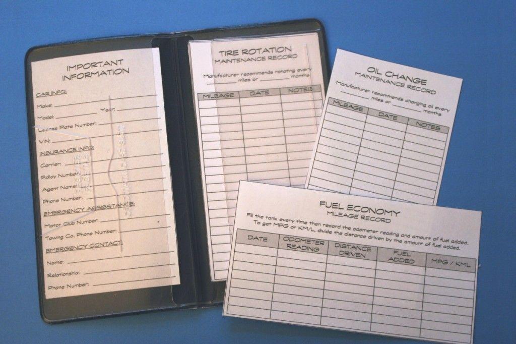 Track Organize Your Car Maintenance Records I Really Need To Do