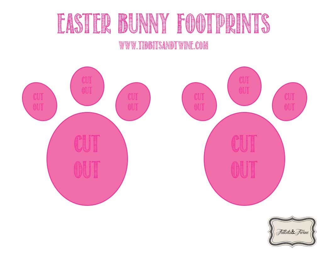 bunny feet template printable - how to make easter bunny footprints easter pinterest