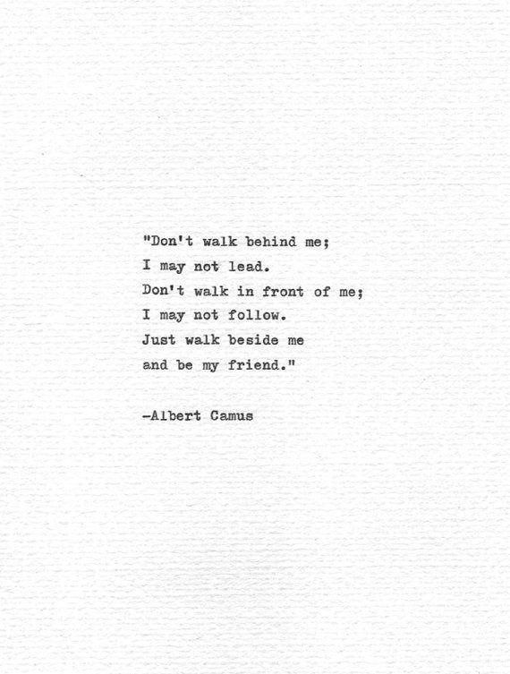 Albert Camus Hand Typed Quote