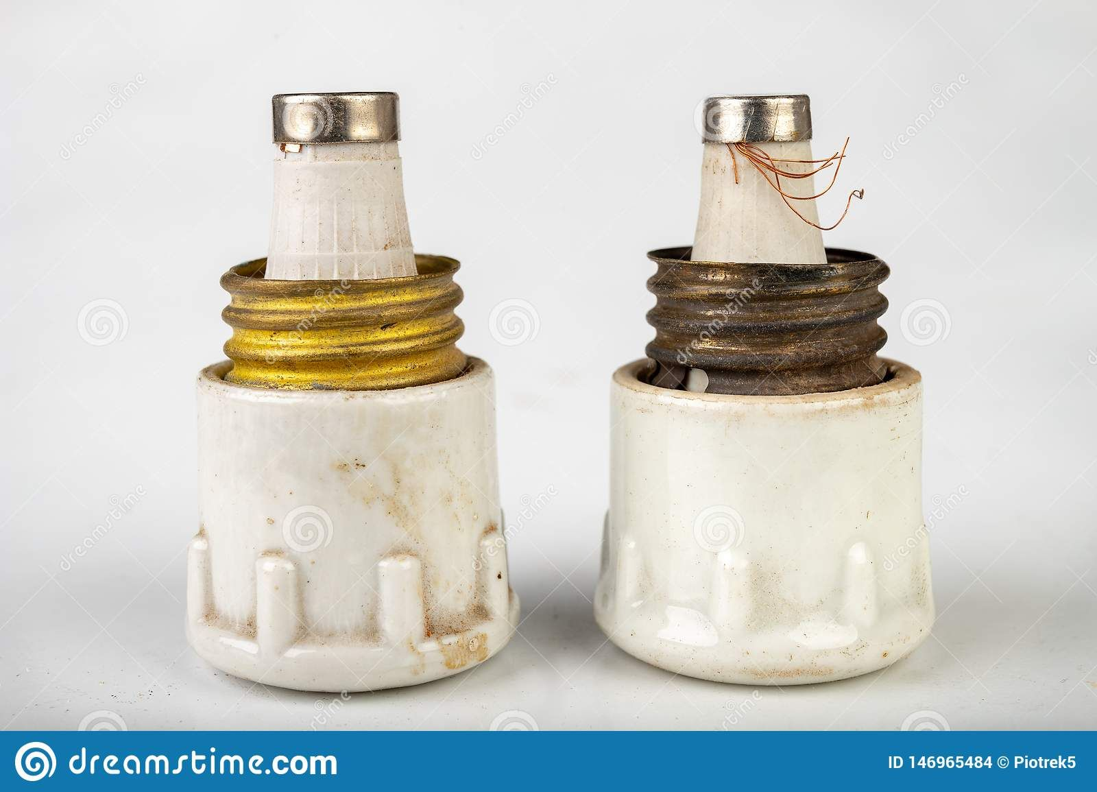 Old Ceramic Electric Fuse Blown And Badly Repaired Security For Energy Photo About Ceramic Background Bottle Energy Fuse Safe Ceramics Fuses Electricity