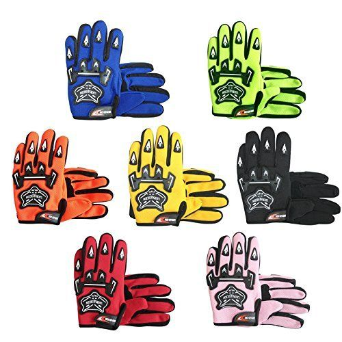 Junior Children Child Kids MX Gloves Bike Motorcycle Motorbike Motocross Gloves Blue S