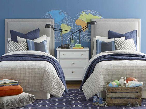 Ideas para decorar recamaras de gemelos camas gemelas for Recamaras individuales modernas
