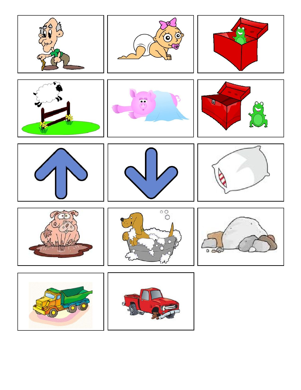 The Opposite Game Is A Fun Activity For Preschoolers To Learn Opposite Concepts Such As Up Down