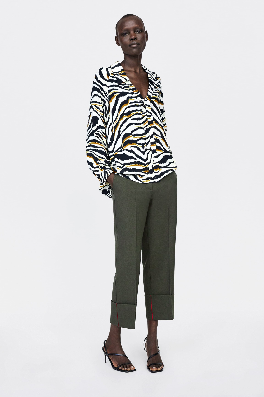 BLUSA ESTAMPADO ANIMAL   kLaMoTTeN   Zara, Fashion, Style f09fc107a1