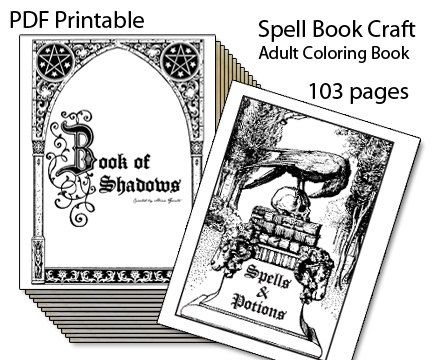 photograph relating to Printable Book of Shadows referred to as Guide of Shadows Printable Spell E-book Grownup by means of