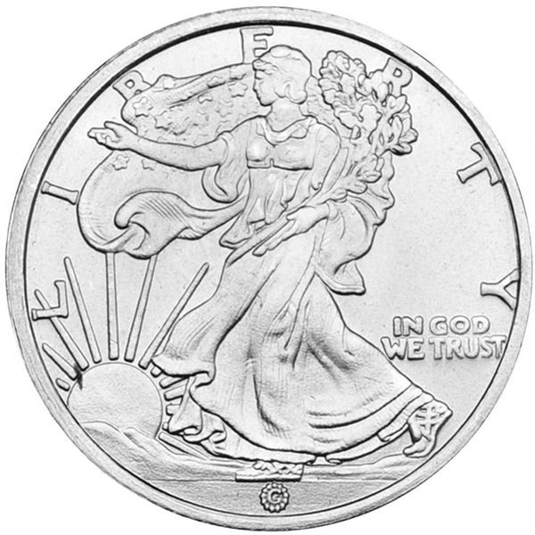 1 10 Oz Gam Walking Liberty Silver Round New Silver Rounds Big Coins Silver