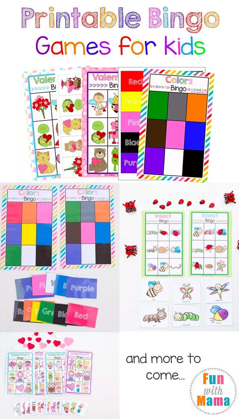 Free Printable Bingo Cards for Kids | Free Printables | Free ...
