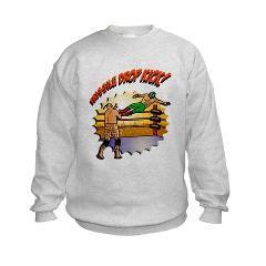 Missile Crop Kick! Kids Sweatshirt $19.89 #prowrestlingshirts