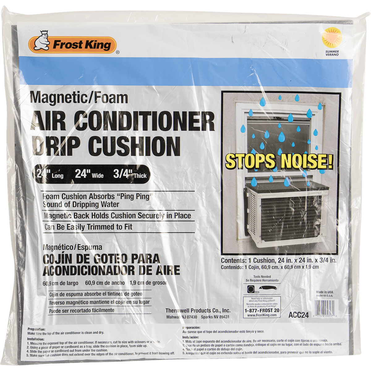 Frost King ACC24 Air Conditioner Drip Cushion Sylvane in