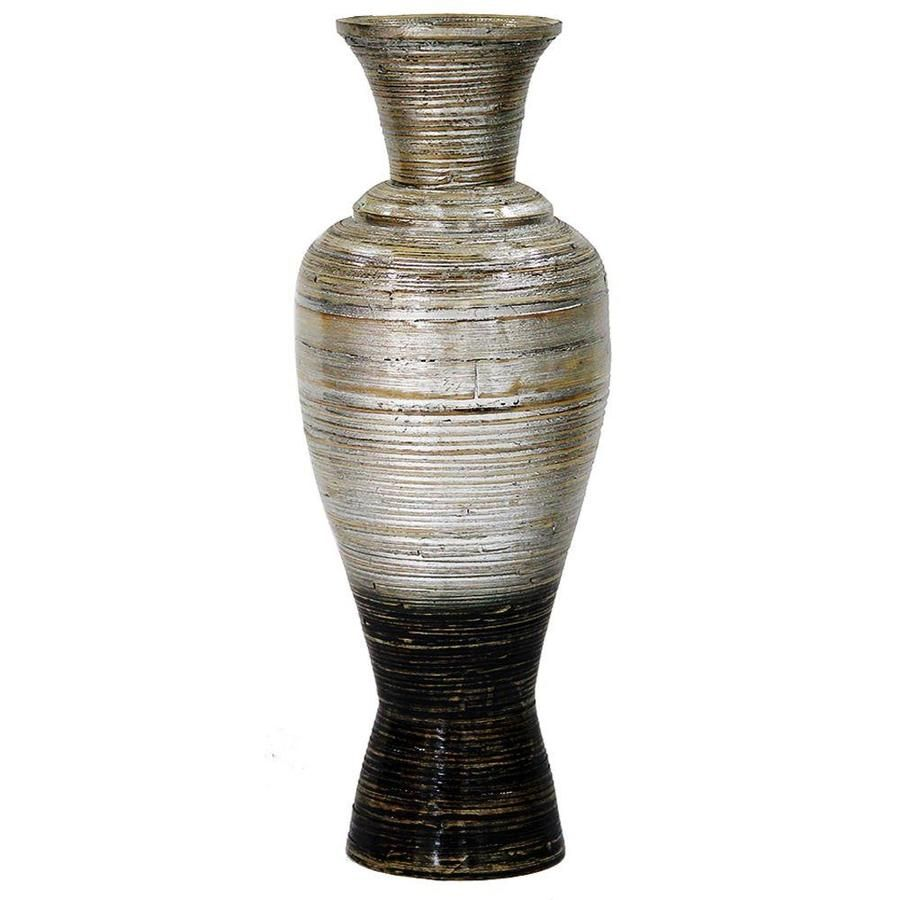 Homeroots 29 In Spun Bamboo Floor Vase Bamboo In Distressed