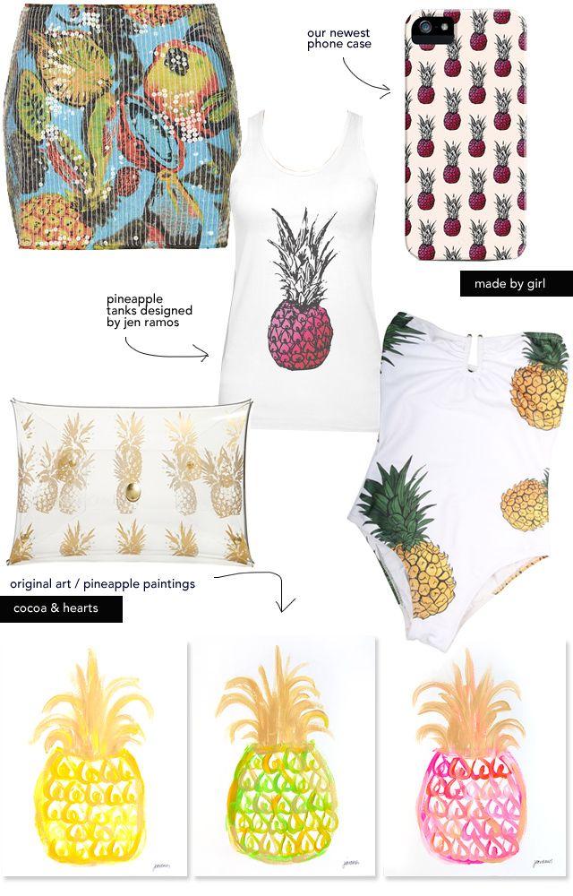 Pineapples: Summer 2014 Trend - via madebygirl blog