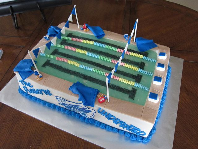 SwimTeam Pool Cake | Flickr - Photo Sharing!