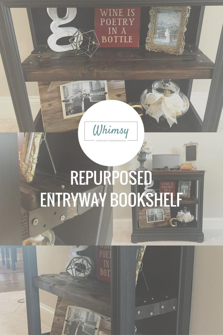 Repurposed Entryway Bookshelf