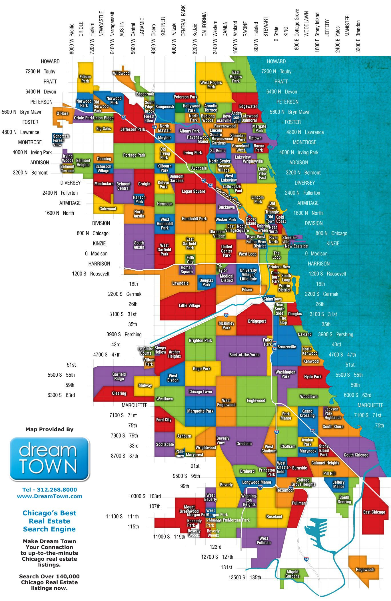 Chicago-Neighborhoods-Map for people visiting the City of ...