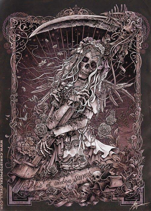 Santa Muerte By Christopher Lovell Dark Art Drawings Dark