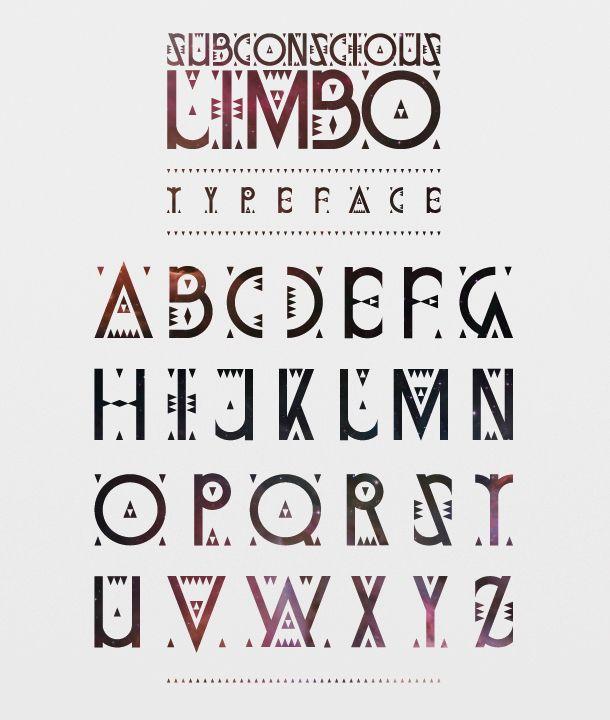 Gorgeous typeface created by Boris Pelcer for Erok Y Brahma // The nuevo native letterforms mask an amazing nebula cloud. BIZOUxx.com