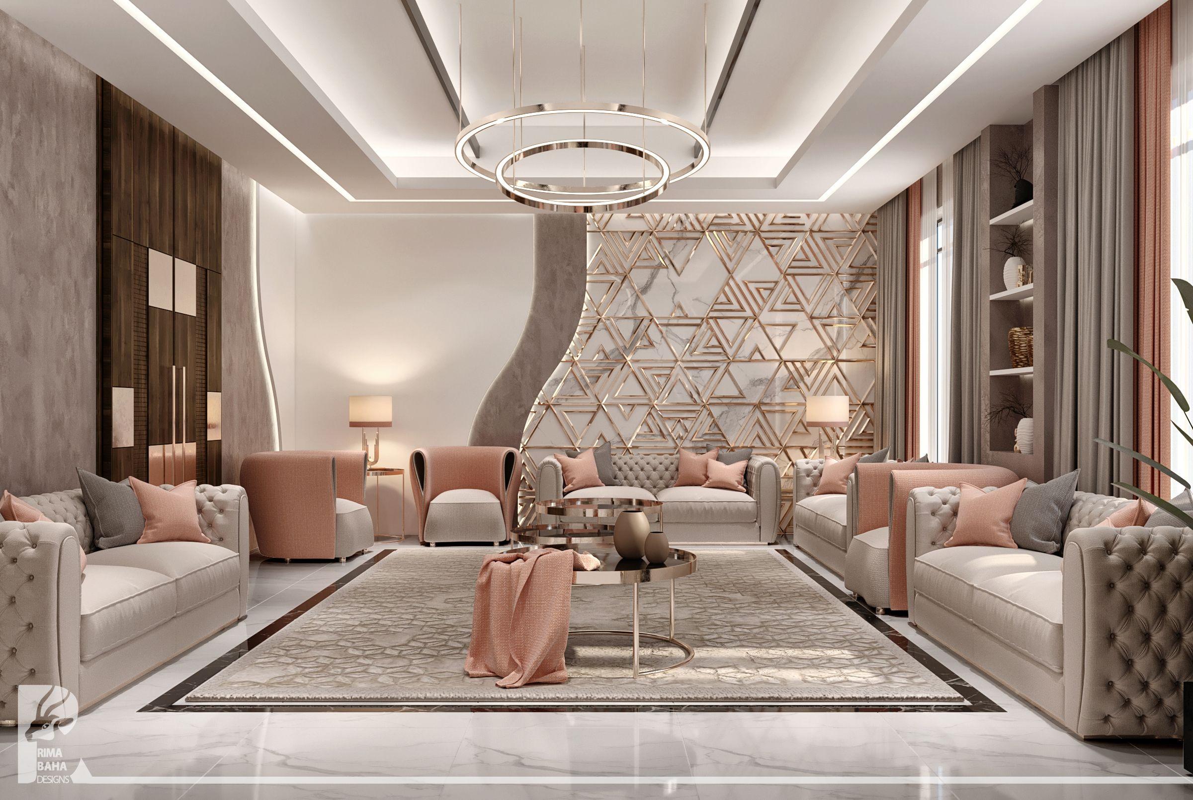 Ladies Majlis In Luxury Villa Abu Dhabi Living Room Design Modern Luxury Living Room Interior Design Gallery