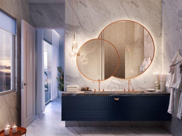 Specchio Per Bagno Doppio 10 Idee Minimal Specchi Bagno Design