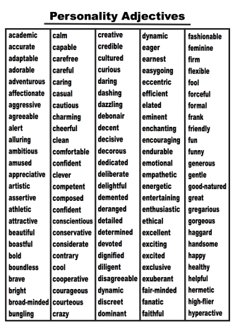 Interesting adjectives for creative writing best dissertation writers