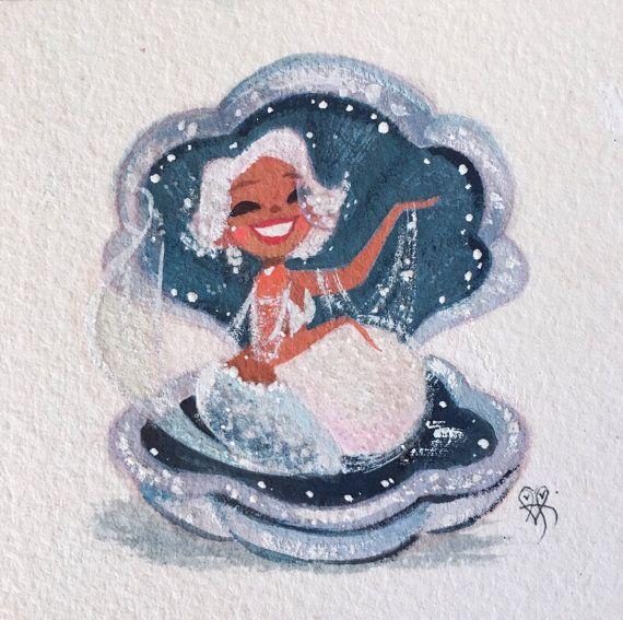 Dazzling Diamond fine art mini print   Mermaid art ...