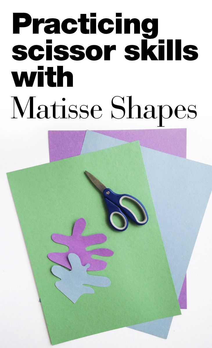 Photo of Cut Paper Matisse Shapes — Art History Kids