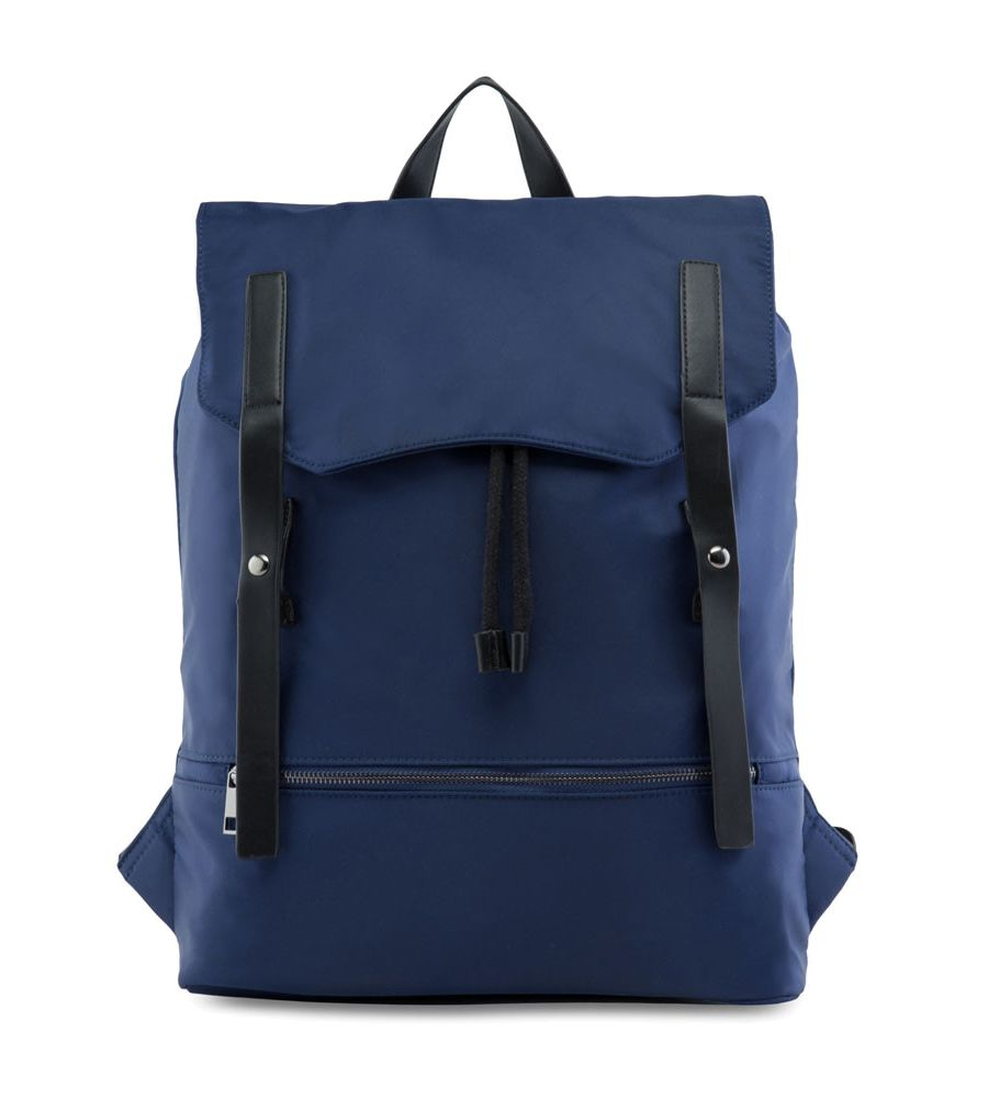 Nylon Backpack With Pu Strap By Zalora Sleek Design Herschel Heritage Abu Frontal Flap And