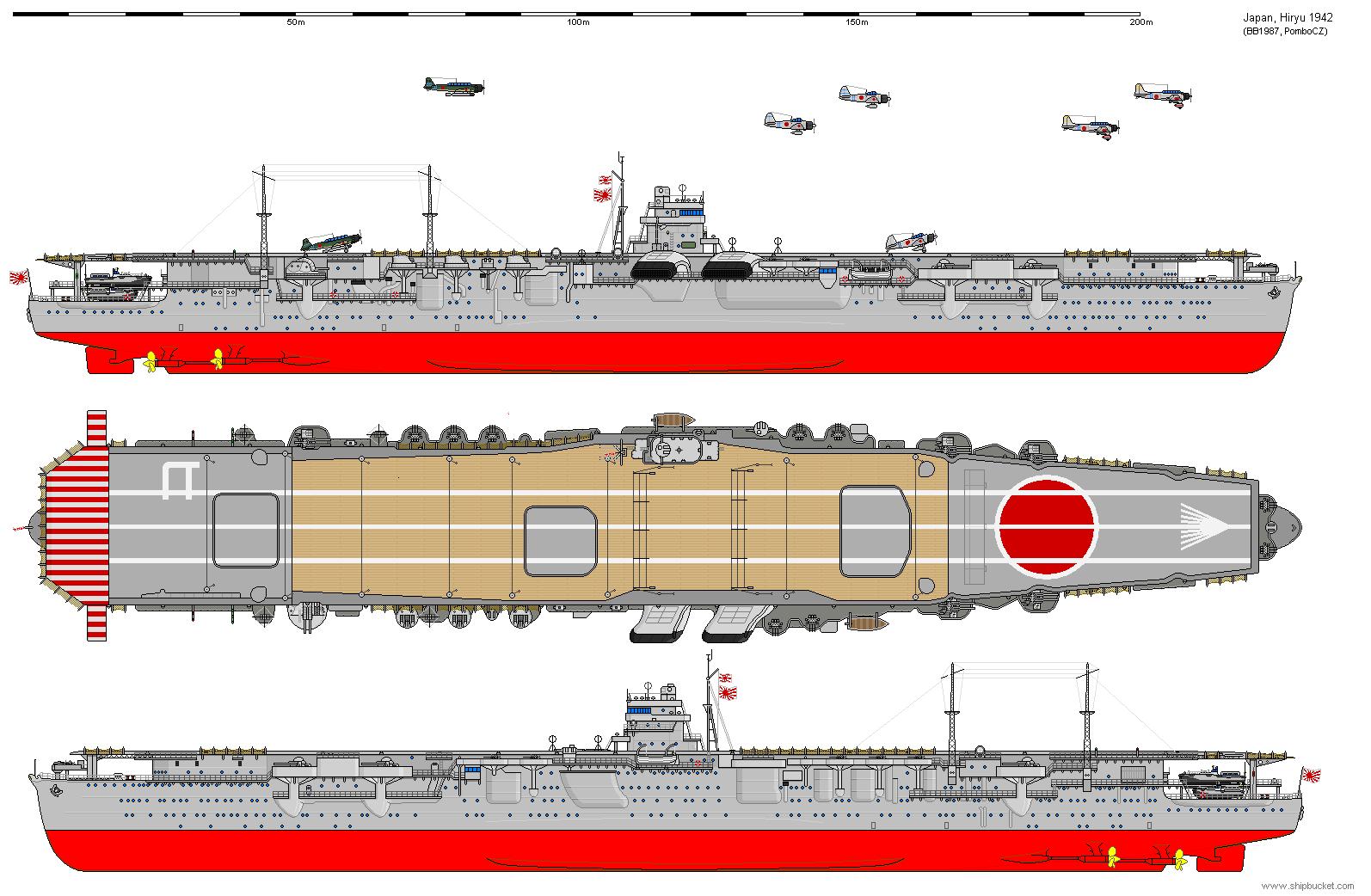Real Designs Japan Cv Hiryu 1942 Png Aircraft Carrier Imperial Japanese Navy Navy Ships