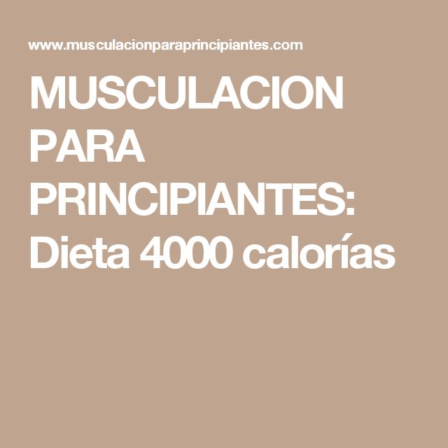 Calorias dieta volumen 4000