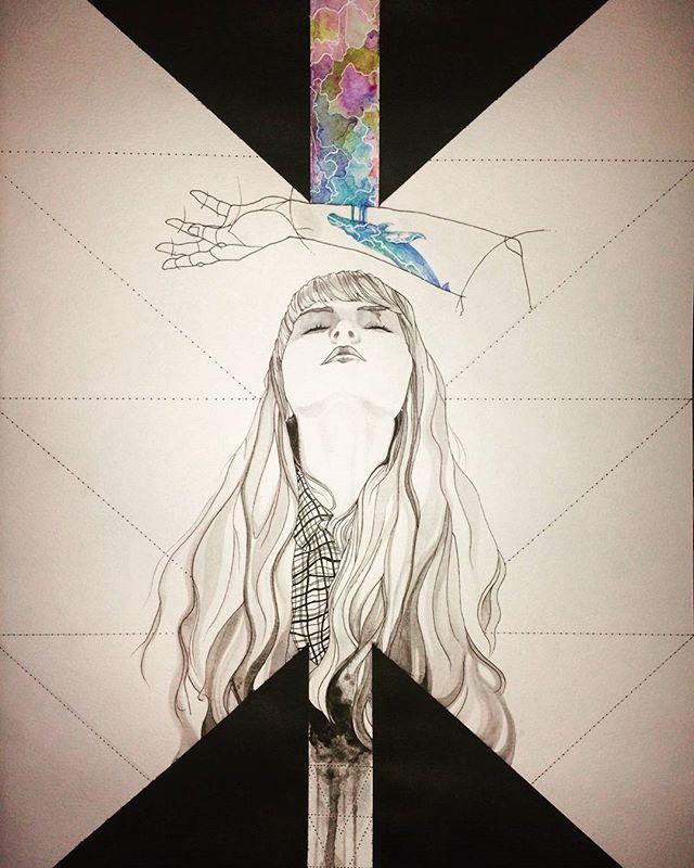 90% #drawing #dibujo #unfinished #sinterminar #pen #boligrafo #pilot #ink #acrylic #acrílico #nawden #artfido #dibujosasombrosos #woman #artwork #sketch #sketchbook #lena