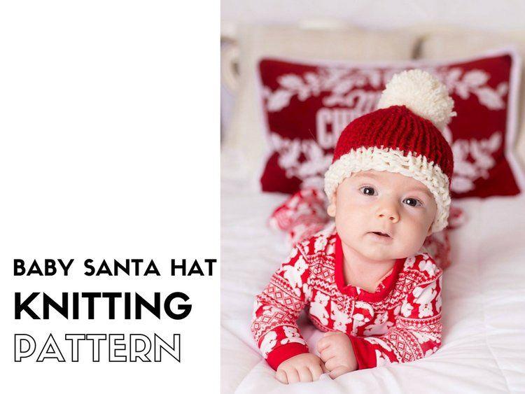 Free Baby Santa Hat Knitting Pattern | Knitting patterns, Thick yarn ...