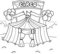 Pin De Ana Fernández En Circo Circo Para Colorear Circo Dibujo Circo Para Niños