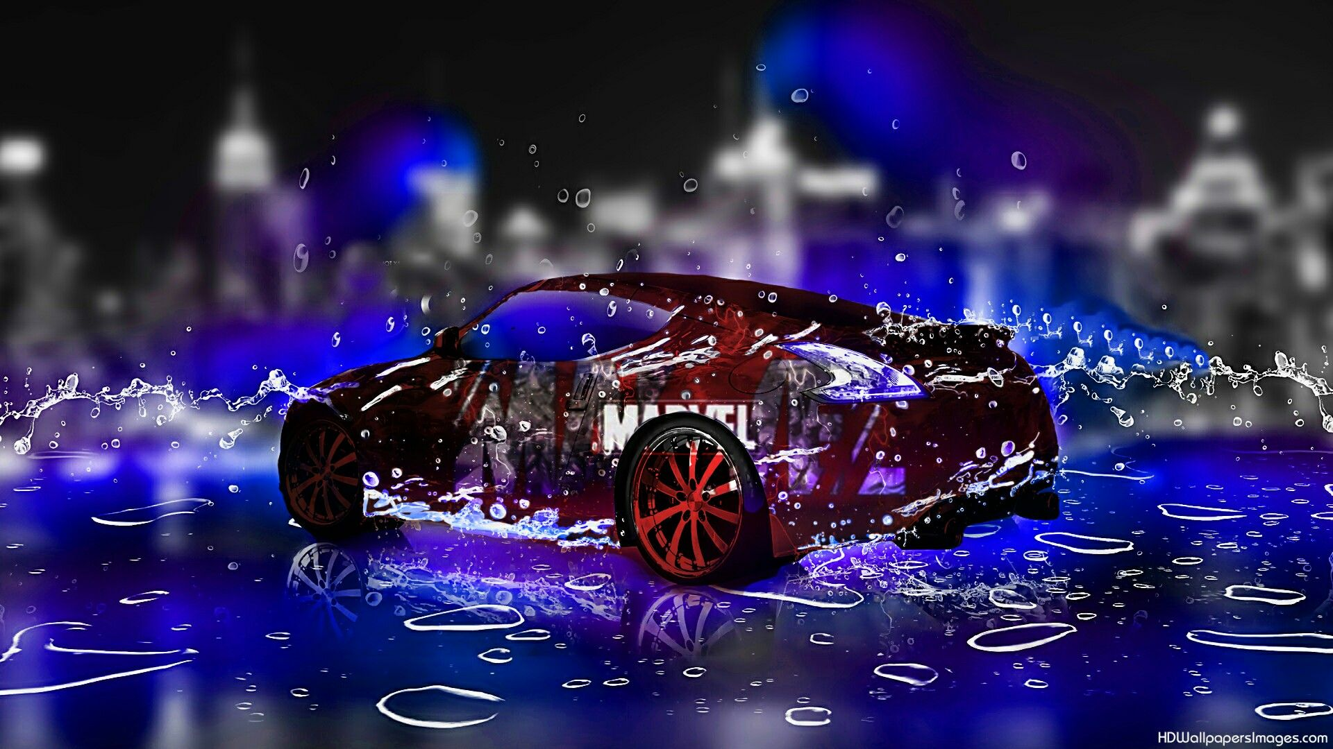 The Graphic Applied On The Car Body With Images 3d Wallpaper