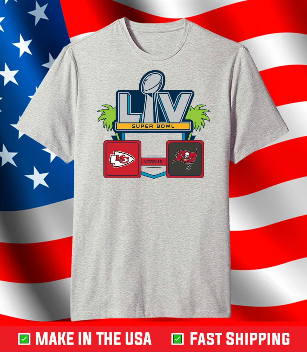 Nfl Super Bowl Lv 55 Kansas City Chiefs Vs Tampa Bay Buccaneers T Shirt Teefilm In 2021 Super Bowl Kansas City Chiefs Tampa Bay Buccaneers