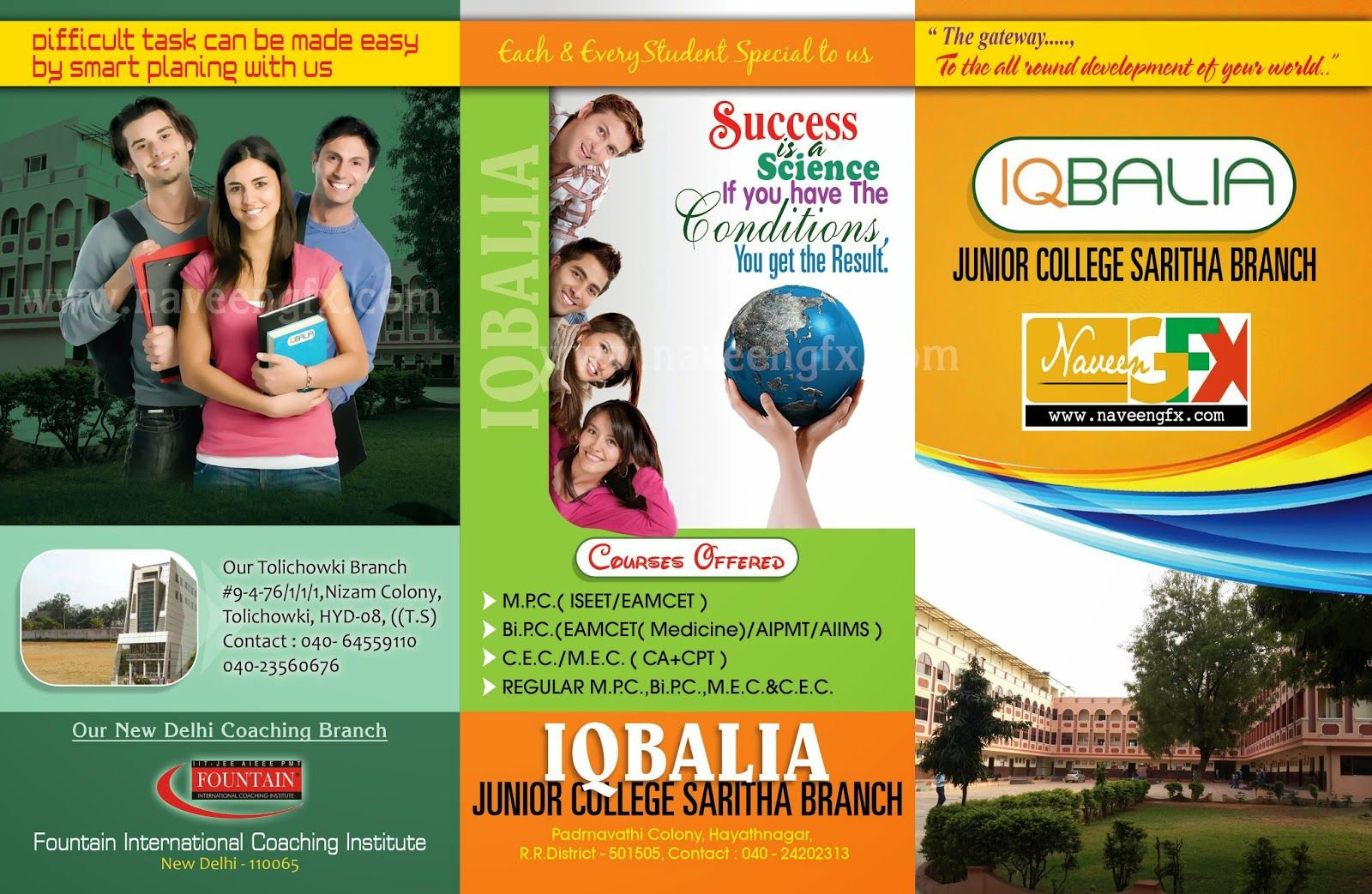 NaveenGFXcom Saritha School Design Flex Designs Pinterest - High school brochure template