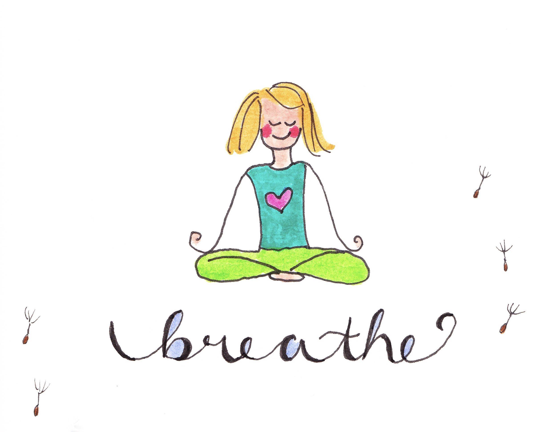 Breathe Card Yoga Card Breathe Print Meditation Card Get Well
