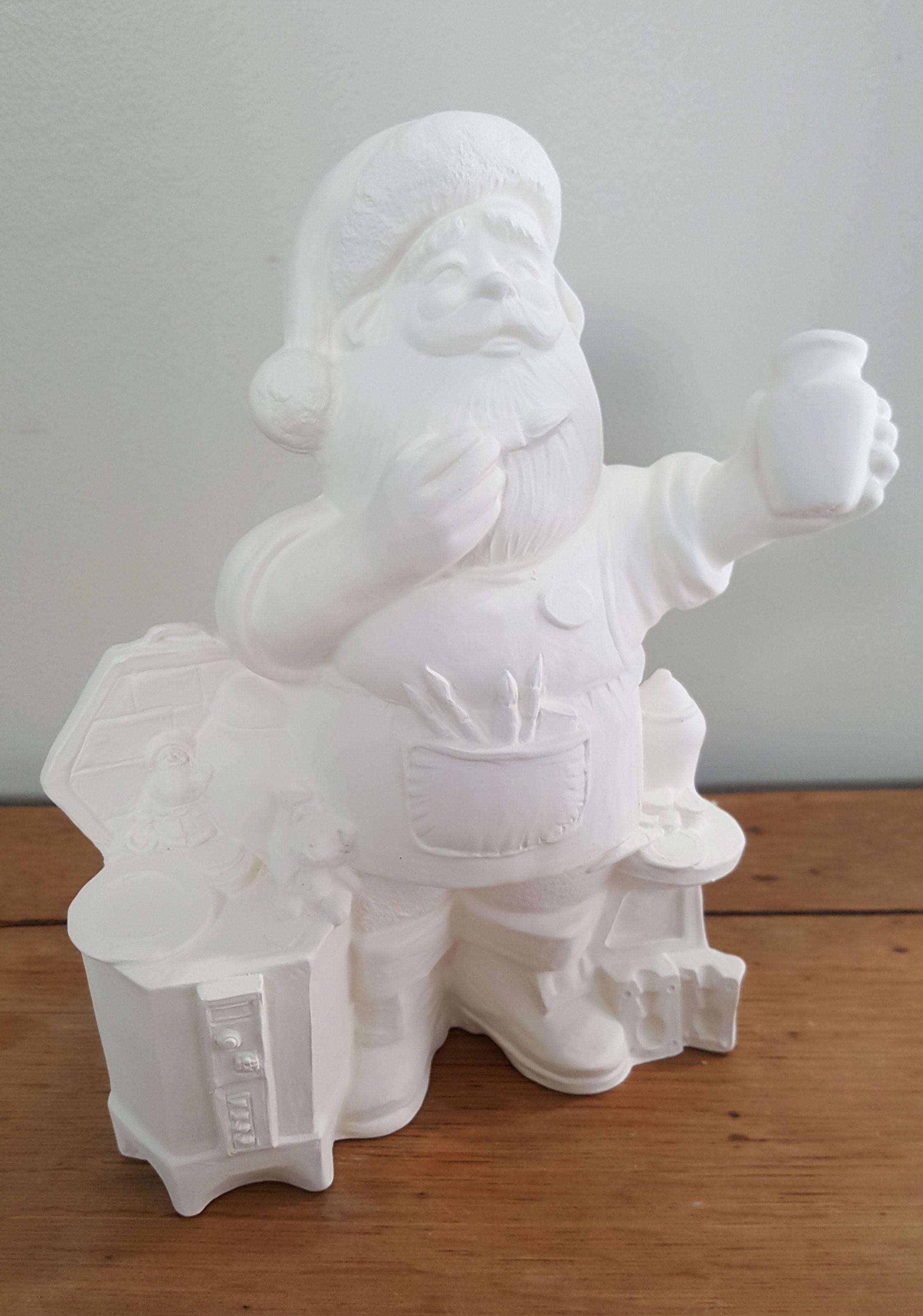 Ceramic Making Santa Ready To Paint Ceramics Ceramic Painting Ceramics