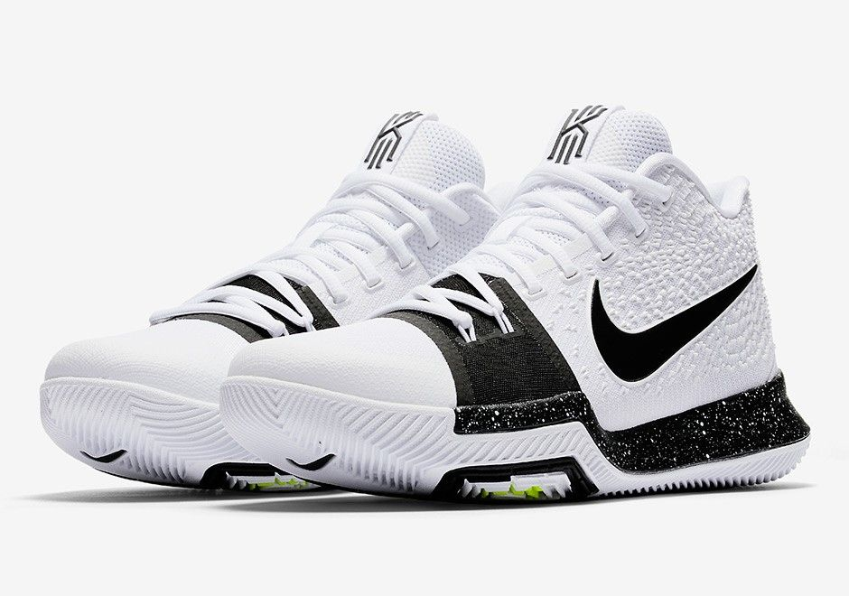 official photos 862c6 05484 Nike Kyrie Irving 3 Cookies and Cream Release Date  JULY 21ST, 2017  120  Color  White Black-Volt Style Code  917724-100