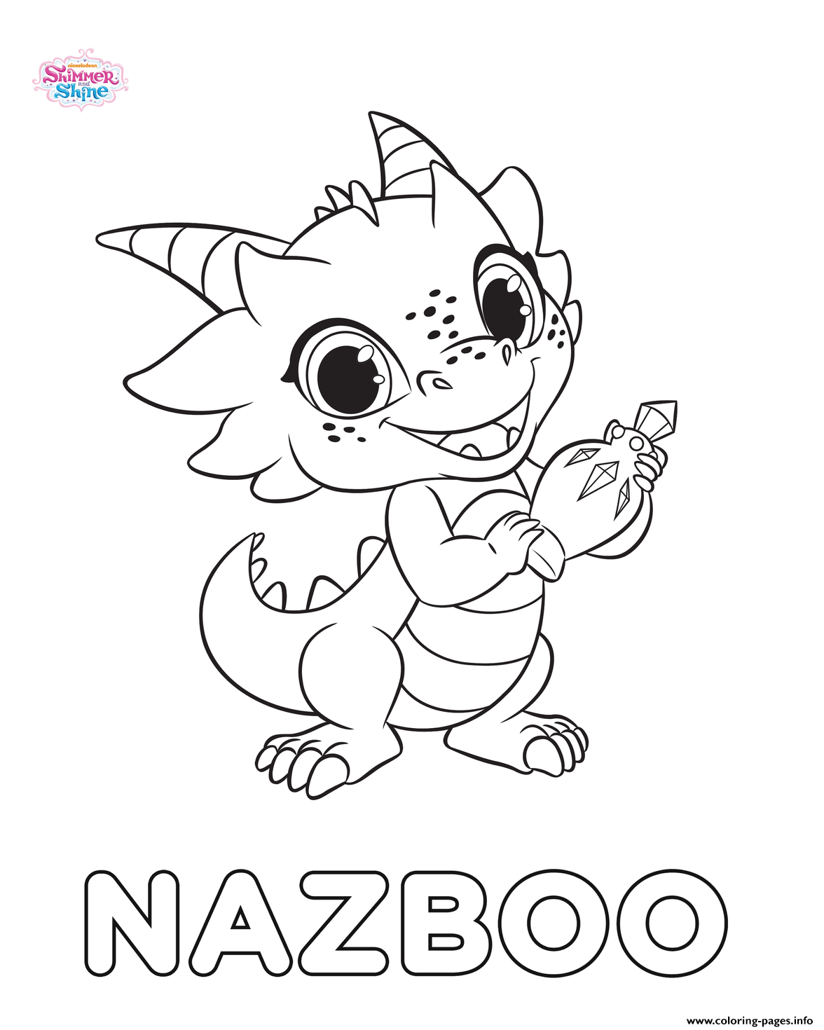 Print Shimmer And Shine Nazboo coloring pages | Kiddo Crap | Pinterest