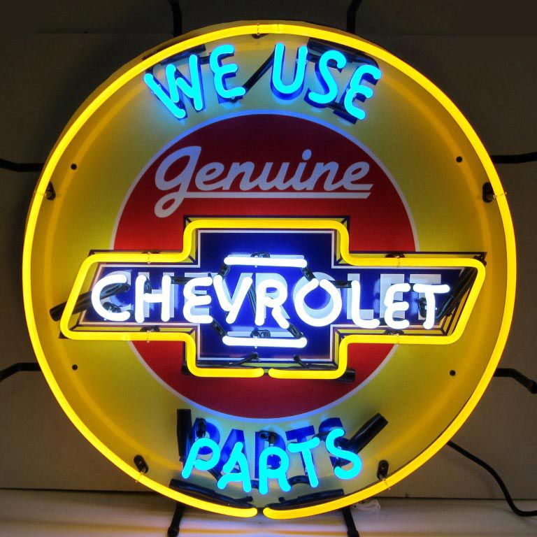 Chevrolet Genuine Parts Neon Sign Neon Signs Old Neon Signs
