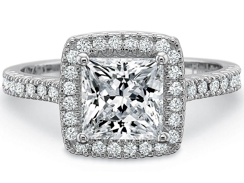 2 carat princess cut engagement ring Sarahs Wedding Pinterest