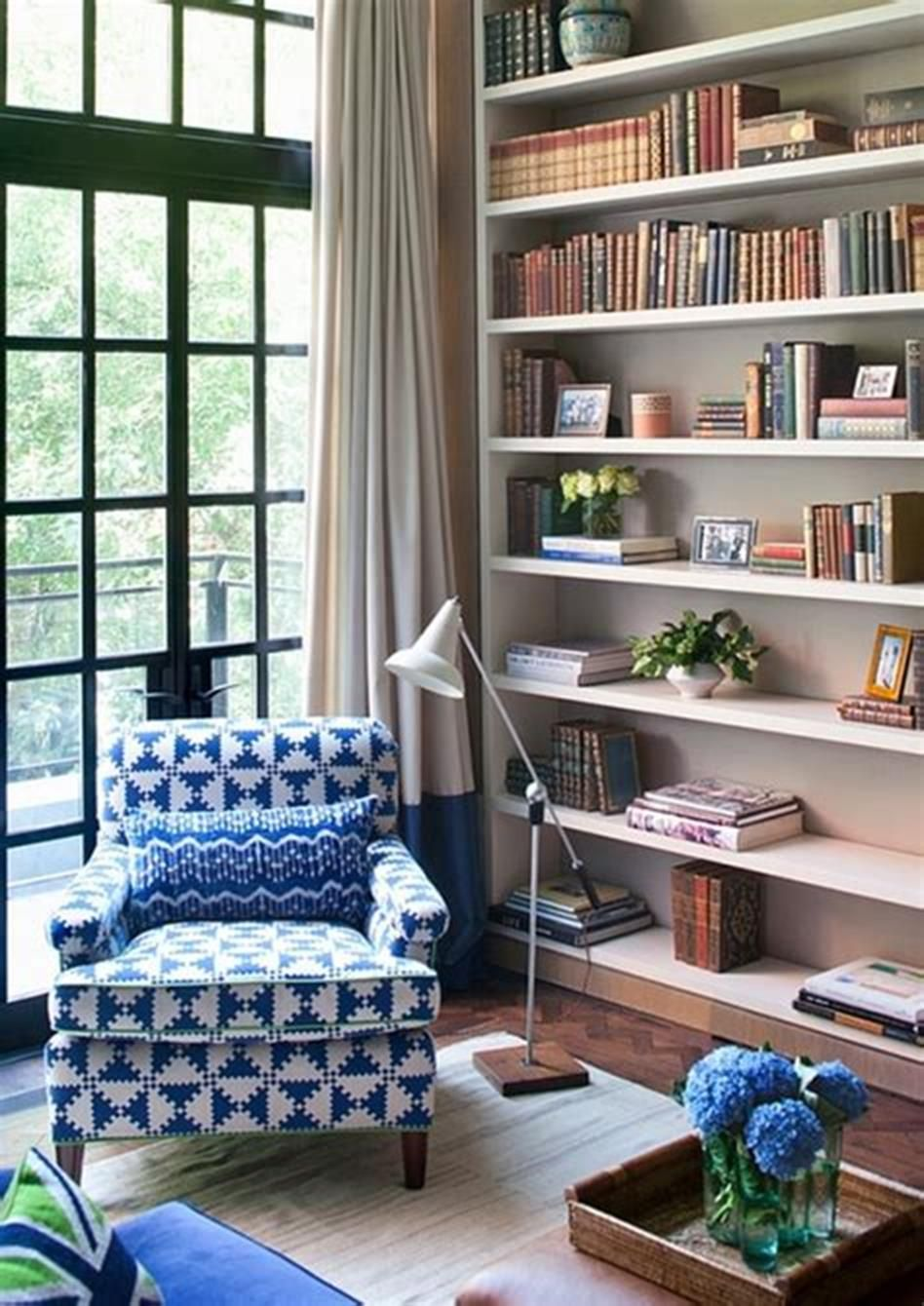 Living Room Library Design Ideas: 50 Comfortable Living Room Decorating And Design Ideas For