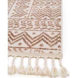 benuta Trends Kurzflor Teppich Laila Beige/Braun 80×240 cm – Moderner Teppich für Wohnzimmer benuta