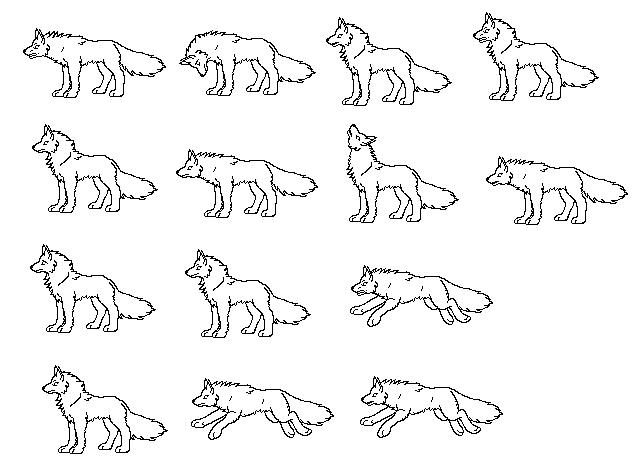 wolf pixel art - Google Search   Lobo   Pinterest   Wolf, Wolf base ...
