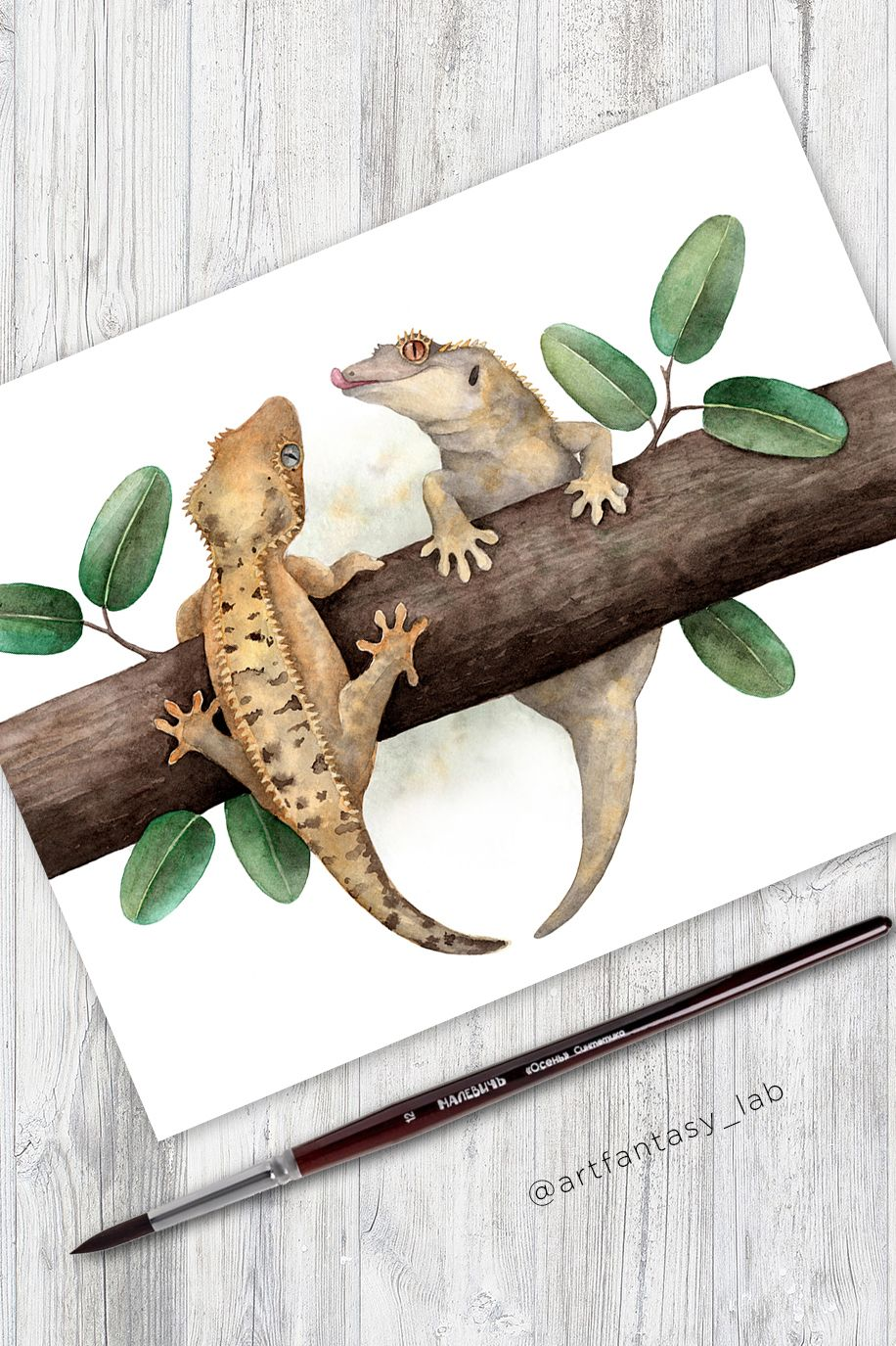 Gecko Wall Art Reptile Poster Crested Gecko Reptile Decor Etsy In 2020 Reptile Decor Gecko Wall Art Wall Art