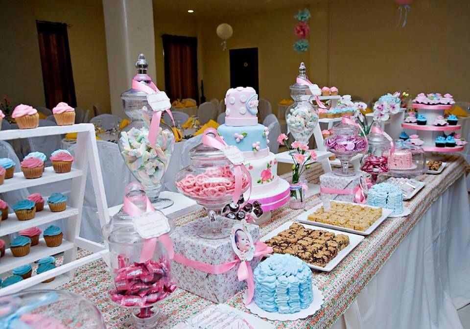 Shabby chic cath kidston baptismal celebration featured for Baby christening decoration ideas