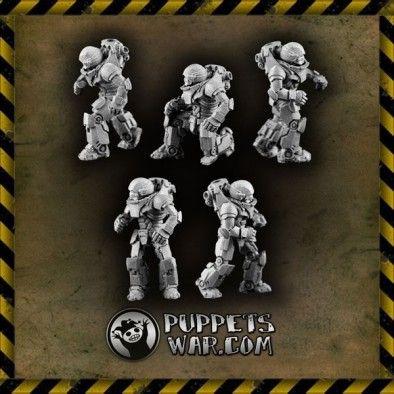 Warriors In Combat Armour Heavy Infantry