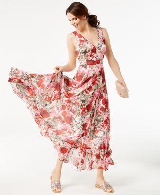 ec68177b398ffc INC Petite Boquet-Print Maxi Dress
