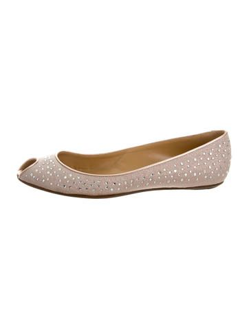 official cheap price Valentino Embellished Round-Toe Flats sale with paypal visit new online HxUS4