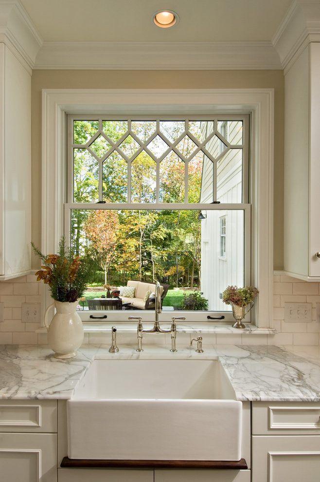 Kitchen window sill ideas kitchen victorian with white cabinet ...